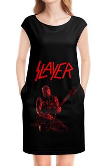 "Платье без рукавов ""Slayer"" - рок, slayer, хэви метал, хардрок, слейер"