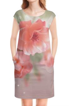 """Платье без рукавов """"Цветы"""" - цветы"""
