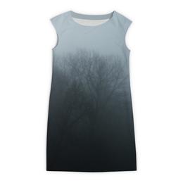 "Платье без рукавов ""Туман"" - туман, загадка"