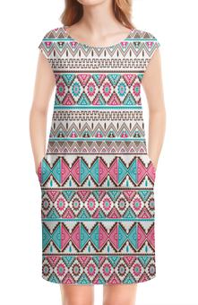 """Платье без рукавов """"Графика"""" - треугольники, абстракция, графика, узор, ромбы"""