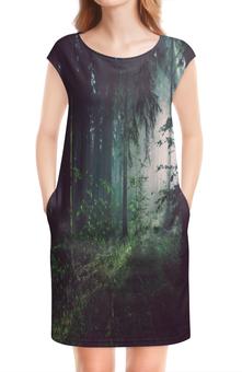 """Платье без рукавов """"Природа леса"""" - лес, деревья, природа, пейзаж, трава"""
