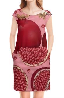 """Платье без рукавов """"Гранатовый бум"""" - арт, фрукты, природа, дизайн, абстракция"""