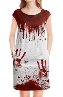 """Платье без рукавов """"Кровь"""" - кровь, хэллоуин, маньяк, зомби, в крови"""