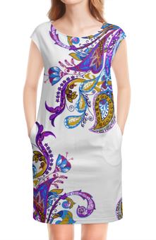 """Платье без рукавов """"Красивый узор на белом фоне"""" - свадьба, паттерн, элегантный, свадебный, роскошный"""