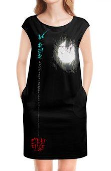 """Платье без рукавов """"Луна в ветвях № 1. Китай"""" - ориентал, этно, философия, поэзия, иероглифы"""