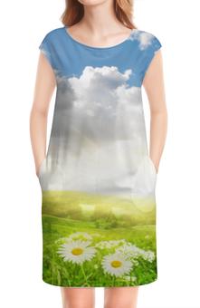 """Платье без рукавов """"Жаркое лето"""" - лето, природа, ромашки, цветы"""