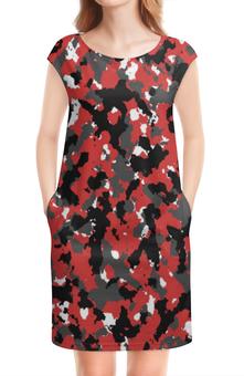 """Платье без рукавов """"Red Urban Camo"""" - арт, спорт, красный, россия, камуфляж"""