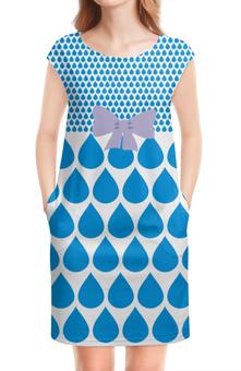"""Платье без рукавов """"дождь"""" - купить, платье, одежда для девушек, трикотаж"""