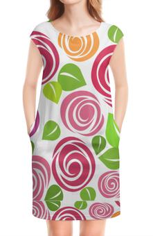 """Платье без рукавов """"платье с цветочным принтом"""" - узор, природа, розы, дизайн"""