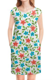 """Платье без рукавов """"Цветочное"""" - цвет, цветочный, узор, рисунок, стиль"""