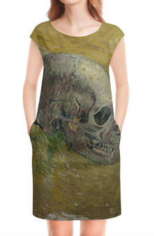"""Платье без рукавов """"Череп (Винсент ван Гог)"""" - картина, ван гог, живопись"""