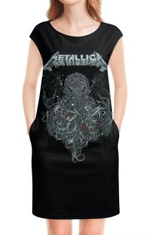 """Платье без рукавов """"Metallica"""" - metallica, металлика, метал, рок, группы"""