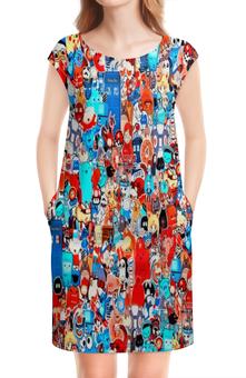 """Платье без рукавов """"Мульт"""" - мультики, игрушки, покемон, человек паук, симпсоны"""