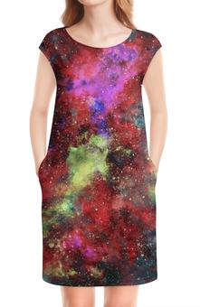 """Платье без рукавов """"Космос"""" - space design, galaxy design, cosmos design, stars nebula, вселенные"""