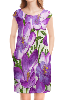 """Платье без рукавов """"Цветы"""" - лето, тропики, природа, summer, цветы"""