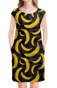 """Платье без рукавов """"Бананы"""" - бананы, banan"""