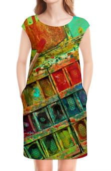 """Платье без рукавов """"""""Акварельные краски"""""""" - искусство, разноцветный, акварель, художник, яркий"""