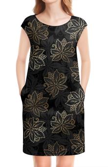 """Платье без рукавов """"Листья"""" - природа, листья"""