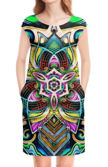 """Платье без рукавов """"Mandala HD 4"""" - узор, ретро, классика, этно, симметрия"""