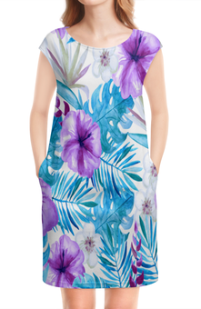 """Платье без рукавов """"Тропические цветы"""" - лето, тропики, природа, summer, цветы"""