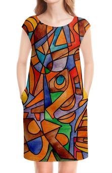 """Платье без рукавов """"W2W2`V61"""" - арт, узор, абстракция, фигуры, текстура"""