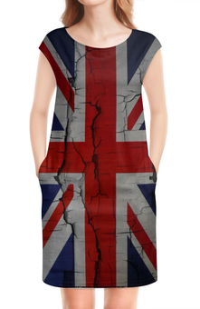 "Платье без рукавов ""Британский Флаг"" - great britain, великобритания, англия"