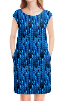 """Платье без рукавов """"Символы"""" - знаки, символы, коды, буквы, матрица"""