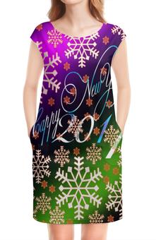 """Платье без рукавов """"Снежинки снега"""" - праздник, новый год, снег, снежинки, 2017"""