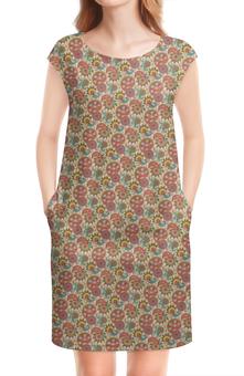 """Платье без рукавов """"Пейсли (Народные мотивы)"""" - лепестки, узор, цветы, пейсли, лепесток"""