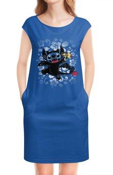 """Платье без рукавов """"Lilo & Stich (Stich)"""" - дисней, лило и стич, стич, пришелец, инопланетянин"""