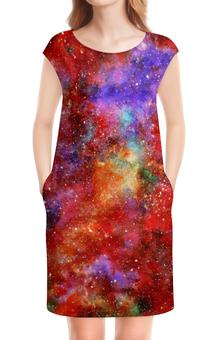 """Платье без рукавов """"Космос"""" - космический дизайн, space design, cosmos design, nebula design, galaxy design"""
