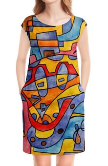 """Платье без рукавов """"MX0`]MM02Y"""" - арт, узор, абстракция, фигуры, текстура"""