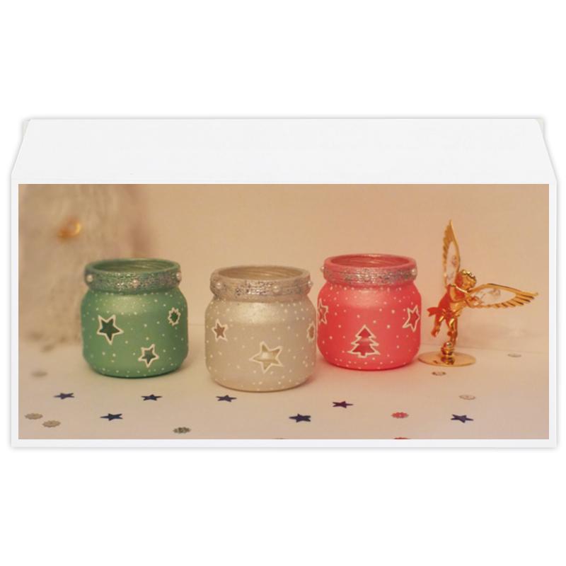 Фото - Конверт маленький Евро Е65 Printio Новогодние подсвечники подсвечники и канделябры