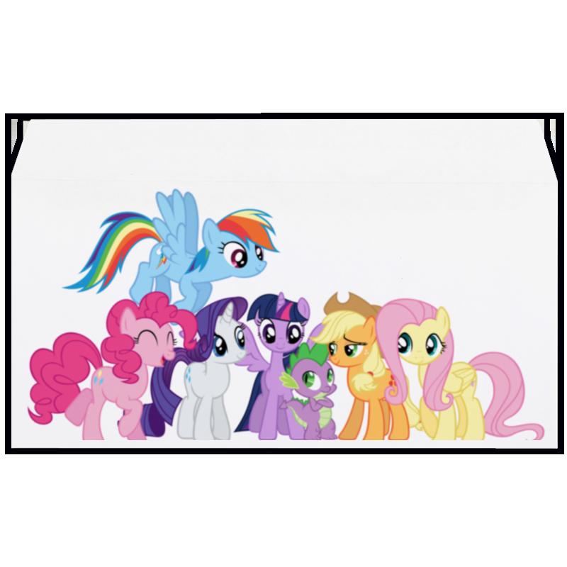 Конверт маленький Евро Е65 Printio My little pony - mane six мульти пульти мягкая игрушка принцесса луна 18 см со звуком my little pony мульти пульти