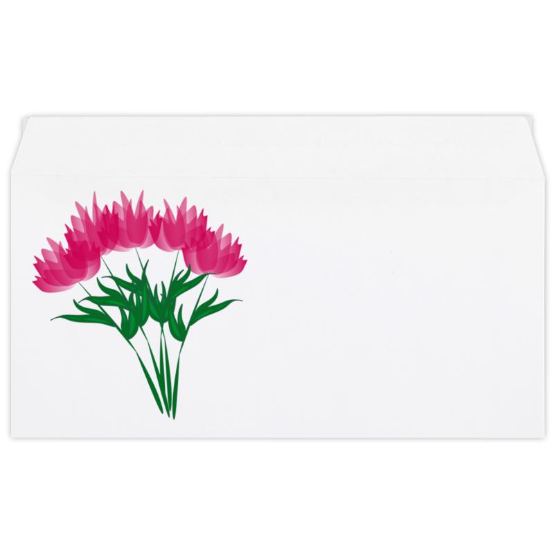 Конверт маленький Евро Е65 Printio Розовые абстрактные цветы невидимка для волос funny bunny розовые цветы 2 шт