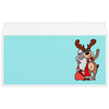 """Конверт маленький """"Евро"""" Е65 """"Дед мороз с оленем"""" - праздник, новый год, радость, дед мороз, олень"""