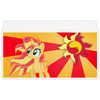 "Конверт маленький ""Евро"" Е65 ""Sunset Shimmer Color Line"" - sun, cutiemark, sunset shimmer"