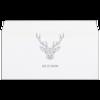"""Конверт маленький """"Евро"""" Е65 """"Dear Deer"""" - рисунок, дизайн, олень, минимализм, рога"""