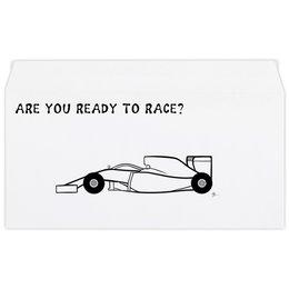 """Конверт маленький """"Евро"""" Е65 """"Are you ready to race? """" - авто, гонки, car, race, болид"""
