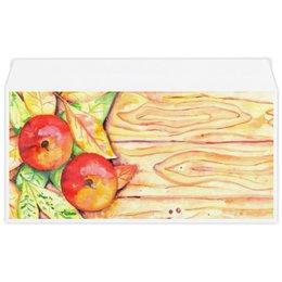 """Конверт маленький """"Евро"""" Е65 """"Осенние Яблоки"""" - листья, осень, дерево, иллюстрация, яблоки"""