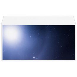 """Конверт маленький """"Евро"""" Е65 """"Без названия"""" - космос, небо, луна, звёзды, галактика"""