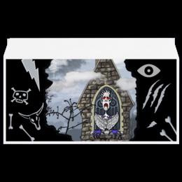 """Конверт маленький """"Евро"""" Е65 """"Бессмертный"""" - череп, готика, арт, авторская, глаз, скелет, облако, кости, дизайн, деревья"""