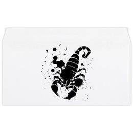 "Конверт маленький ""Евро"" Е65 ""Скорпион (24.10-21.11)"" - крутой, оригинальный, стильный, скорпион, биология"