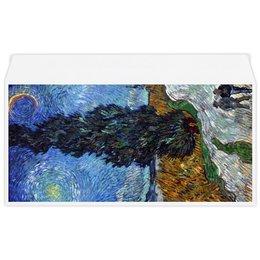 "Конверт маленький ""Евро"" Е65 ""Дорога с кипарисом и звездой (Винсент Ван Гог)"" - картина, ван гог, живопись"