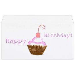 """Конверт маленький """"Евро"""" Е65 """"С днём рождения!"""" - happy, birthday, a heart"""