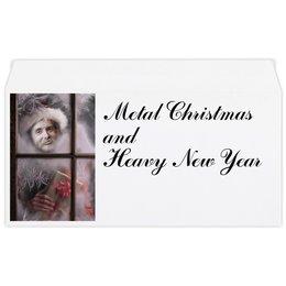 "Конверт маленький ""Евро"" Е65 ""New Year"" - music, юмор, новый год, metal, new year"