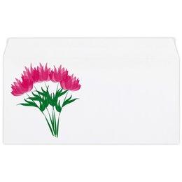 """Конверт маленький """"Евро"""" Е65 """"розовые абстрактные цветы"""" - праздник, цветы, розовый, подарок, букет"""