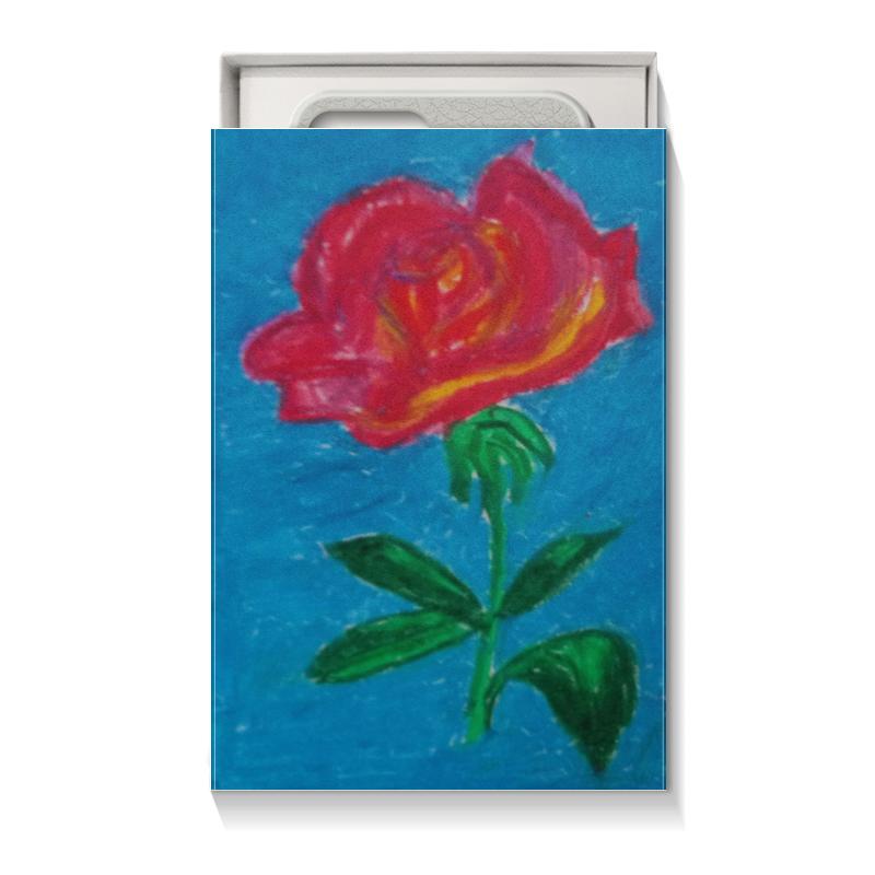 Подарочная коробка малая (пенал) Printio Алая роза комплект семейного белья василиса нежная роза 4172 1 70x70 c рб