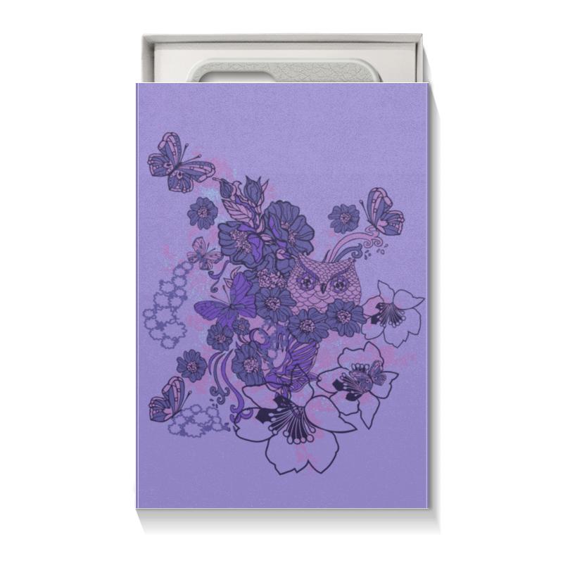 Коробка для чехлов Printio Сова в цветах коробка для чехлов printio бабочки