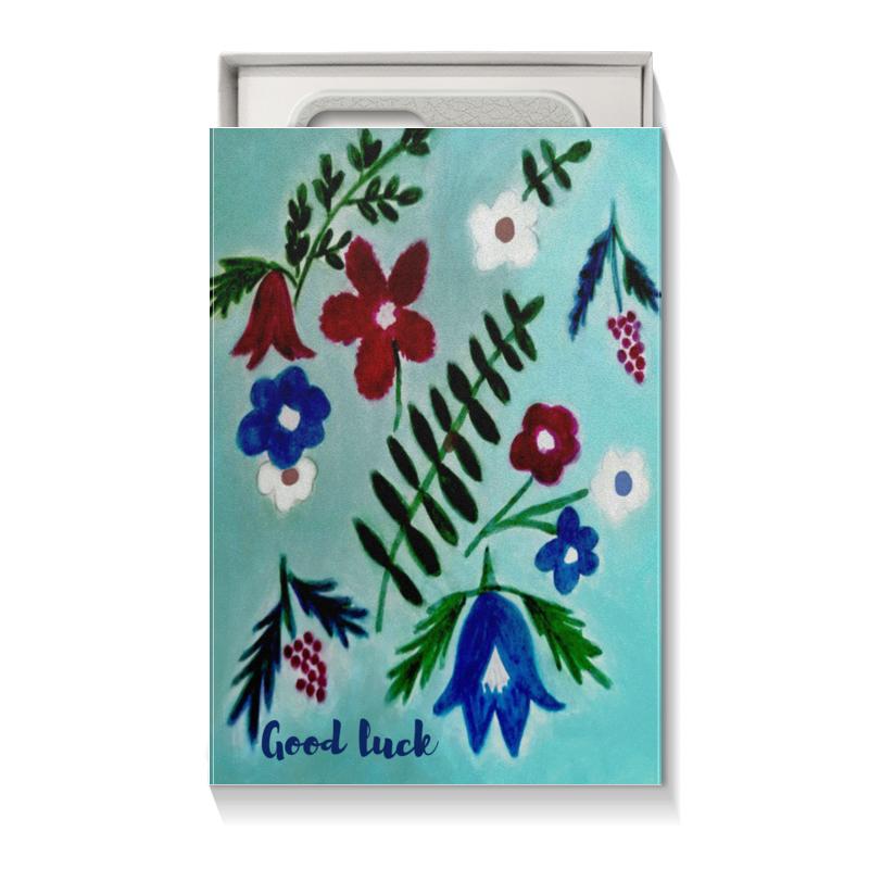 Коробка для чехлов Printio Цветы на голубом